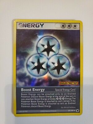 BOOST ENERGY  87/101  EX Dragon Frontiers Pokemon REVERSE HOLO Stamped Card LP