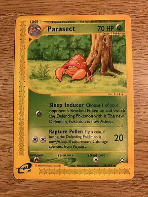 Parasect 27/147 - Aquapolis - RARE Vintage Pokemon Card - Lightly Played