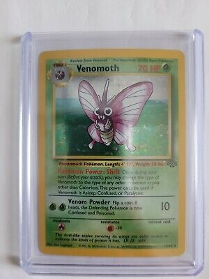 1999 Pokemon Venomoth 13/64 Unlimited Jungle Holo Rare