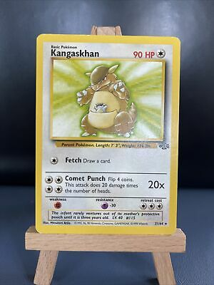 Kangaskhan 21/64 - Jungle Set - Non-Holo Rare - Pokemon Card - WOTC - LP - NM
