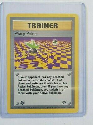 PL (1st edition) Pokemon WARP POINT Card GYM CHALLENGE Set 126/132 Ed PLAYED BN6