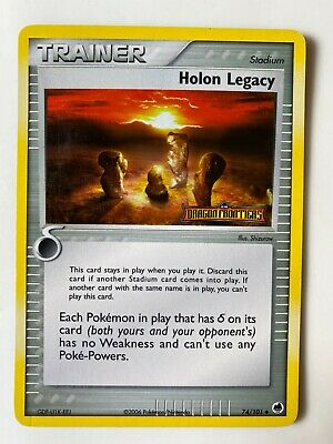 Pokemon EX Dragon Frontiers STAMPED Reverse Holo Holon Legacy #74/101 NM