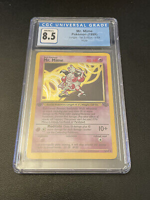 CGC 8.5 - Mr. Mime 1st Edition Jungle Pokemon Card Holo Near Mint / Mint +