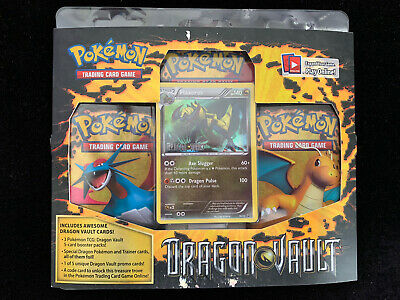 Dragon Vault 3 Pack Booster Blister Box - Factory Sealed with Haxorus Pokemon