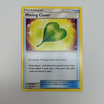 Pokemon Ultra Prism Trainer Missing Clover 129/156 Uncommon - NM