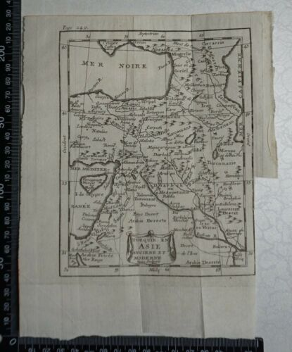 1758 - Turkey in Asia Map, P Buffier , Geographie Universelle - Sculptured Faure
