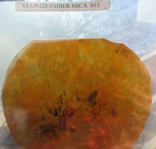 Mica shield or shade fits a Lincoln Mfg. wall  Sconce #1494 Stained Amber .015