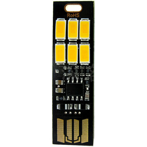 6-LED USB Portable Keychain Lamp with Touch Dimming 1W 3000K 6000K