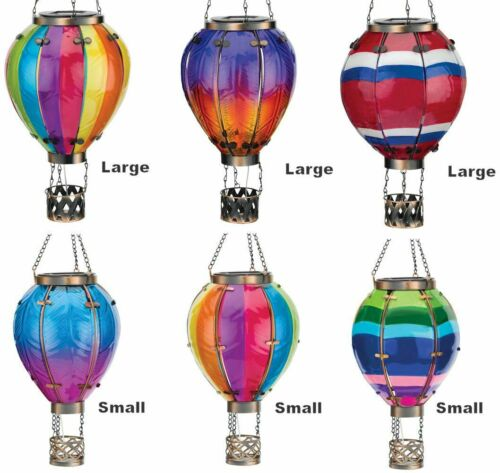 Hot Air Balloon Solar Lantern-Small or Large Sizes in Multiple Colors