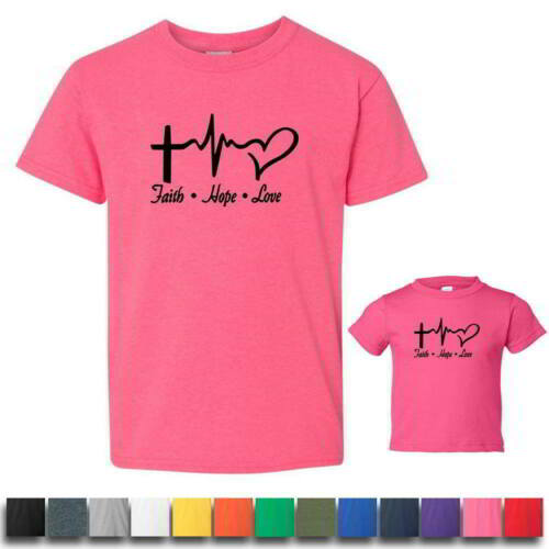 Faith Hope Love Kids Toddlers Graphic T Shirts