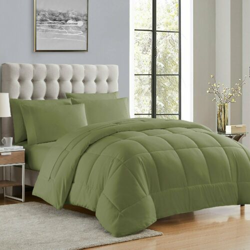Sage Essential 5-7 Pc Bed-in-a-Bag Comforter Set Twin Twin XL Full Queen King