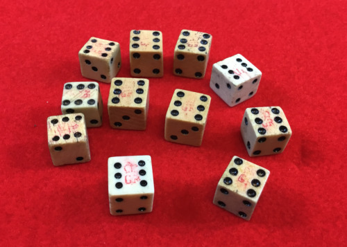 One 1765 Stamp Act Dice British Crown Tax Mark with Certificate of Authenticity