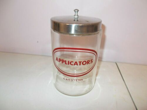 Apothecary Applicators Glass Jar Carstens Stainless Lid