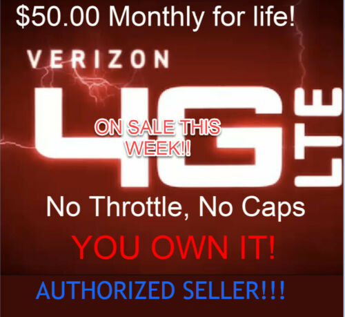 Verizon Unlimited Data Plan - $50 Monthly - No cap or Throttle - No contract