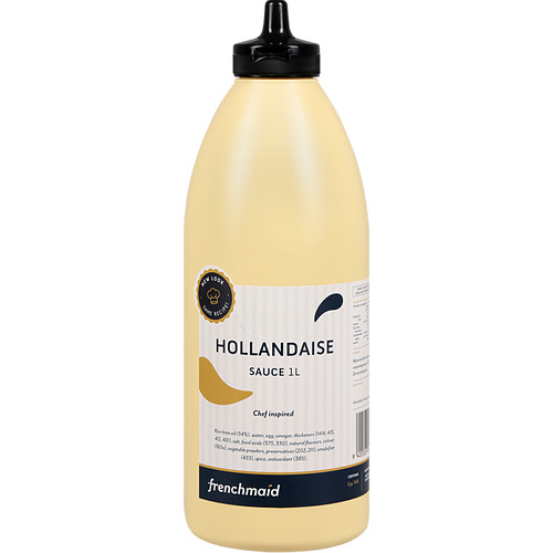 HOLLANDAISE SAUCE 1L BY FRENCH MAID IN HANDY SQUIRT BOTTLE BB: 27/10/2021