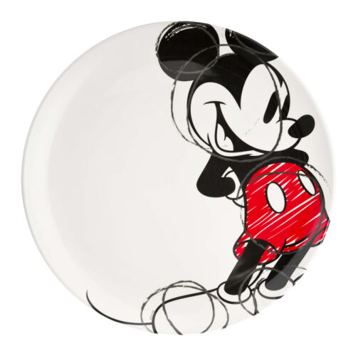 Zak Disney Mickey Mouse Sketch Durable Melamine Plastic Dinner Plate (10 inches)