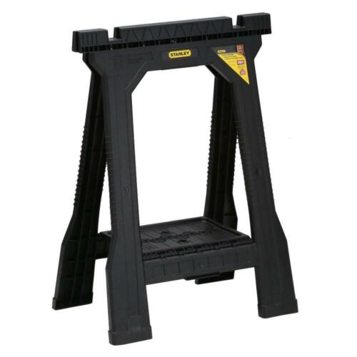 Durable Folding Sawhorse (2 Pack) Durable Plastic Stand Holder Tool 22 in.