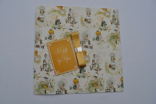 Vintage American Greetings Holly Hobbie Wrapping Paper Opened