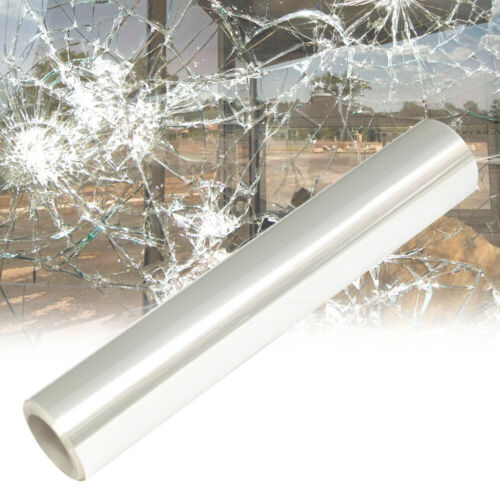 4/8mil Clear Security Safety Window Film Shatterproof Glass Protection Anti-UV