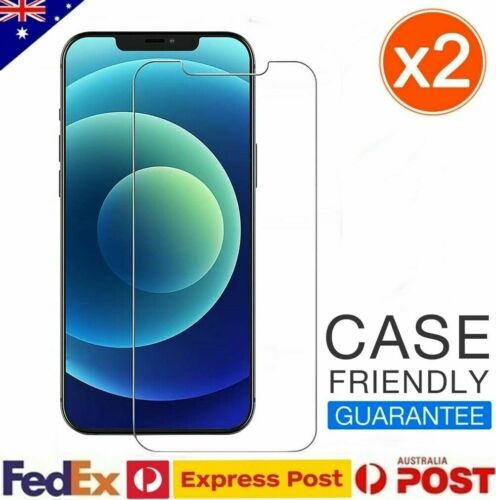 2x Tempered Glass Screen Protector For Apple iPhone 12 11 Pro MAX XS XR X 7 8 SE
