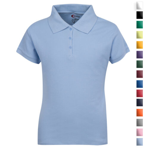 School Uniforms For Girls Collar Polo Shirt Size 3/4 -18/20 All Colors NWT