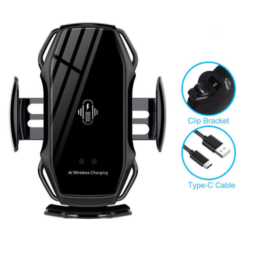 A5 Smart Sensor Car Phone Holder Fast Charging AI Wireless Charger For Samsung