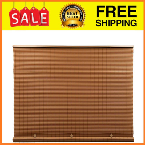 """Outdoor Patio Porch Deck Roller Blind Sun Shade Roll Up Exterior 72"""" W x 72"""" L"""