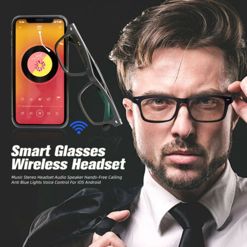 Smart Glasses Wireless Bluetooth 5.0 Music Stereo Headset Audio For IOS Android