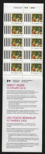 1987 Canada SC# BK 95-Christmas Greet More-booklet of 10-M-NH