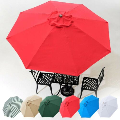 8'/9'/10'/13' Umbrella Replacement Canopy 8 Rib Outdoor Patio Top Cover Only Opt