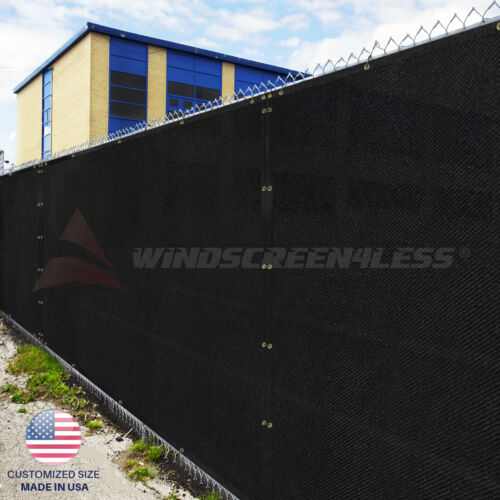 Black Green Beige Brown 4' 5' 6' 8' Fence Privacy Wind Screen Mesh Shade Cover