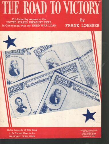 Road To Victory 1943 Royalties to National War Fund WW II  Sung by Bing