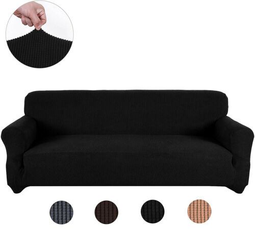1/2/3/4 Seater Spandex Stretch Sofa Cover Elastic Couch Slipcover for 8 colors