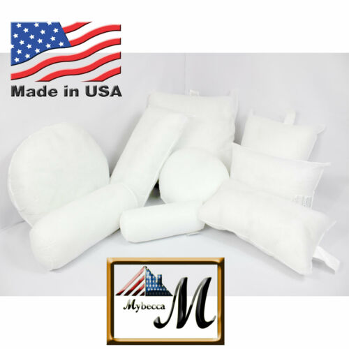 Mybecca New Hypoallergenic Square Euro Pillow Form Insert ALL SIZES Made In USA