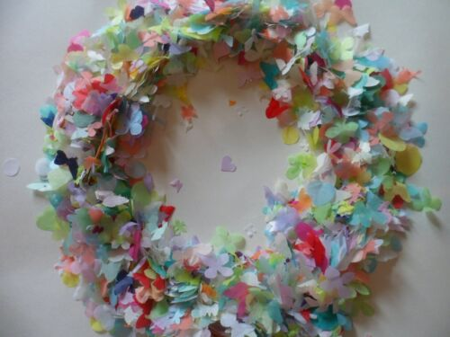 Bio Confetti/Rainbow/Heart Butterfly Flowers/Mixed/Eco/Fill up to 30 Cones