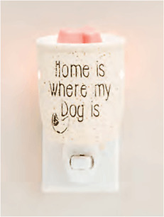 Scentsy Home is where my dog is wall plug in light up warmer