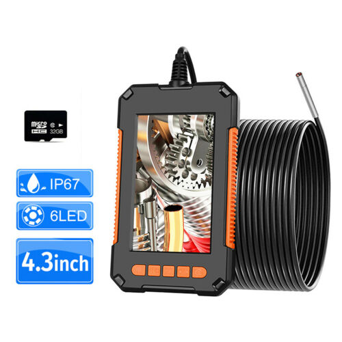 2M/5M Borescope Inspection Camera 1080P HD 4.3'' Screen Snake with free TF card