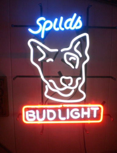 """New Drink Up Bitches Spuds Mackenzie Neon Light Sign 20""""x16"""" Man Cave Bar"""