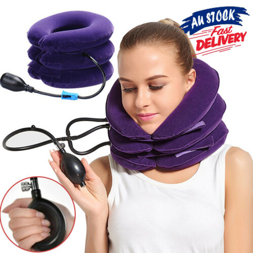 Air Inflatable Pillow Easing Muscle Pain Cervical Neck Traction For Device AU