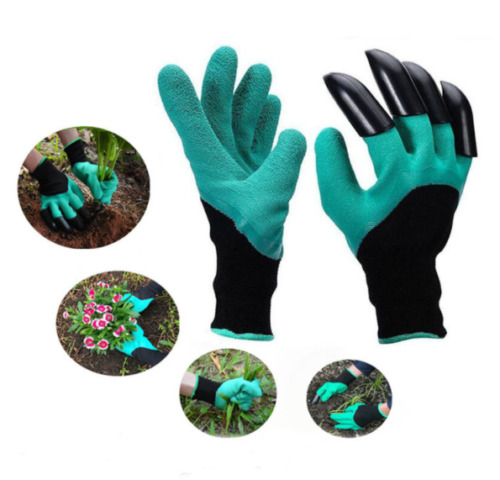 Gardening Digging Genie Gloves Garden Planting Pruning Tools Lawn Care 4 Claws