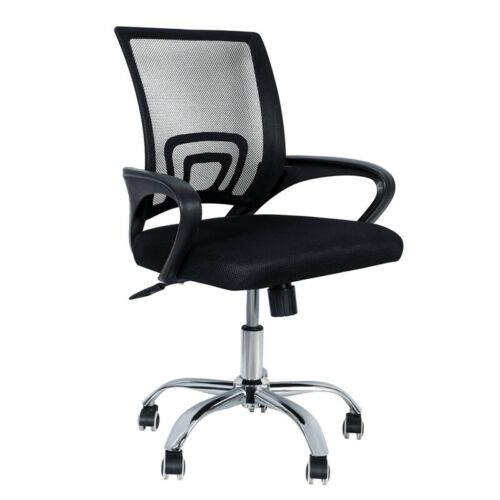 Ergonomic Mesh Office Chair, Computer Swivel Desk Task Chair w. Wheels and Arms