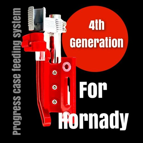 Hornady Progress Case Feeder. 4th Generation. Most Reliable and Compact Solution