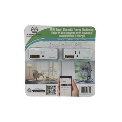 Charging Essentials Wifi Smart Plug: Set of 2 / Energy Monitoring / Works with A