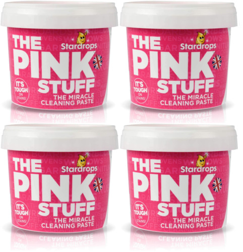 The Pink Stuff Miracle Cleaning Paste, All Purpose Cleaner, 500g (Pack of 4)
