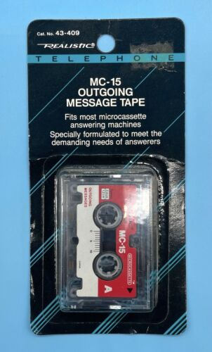 NEW Realistic Telephone MC-15 Outgoing Microcassette Message Tape Radio Shack