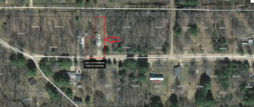 Want a HEADSTART? Beaverton, MI 3 lots with Shed, Electric Pole & Cement! DEED