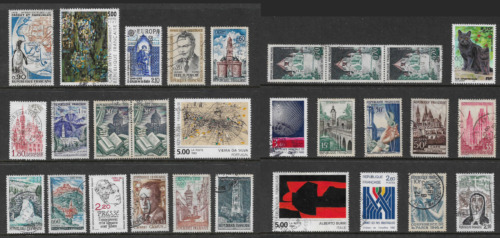 FRANCE mixed collection No.118, incl joined pair & strip, used