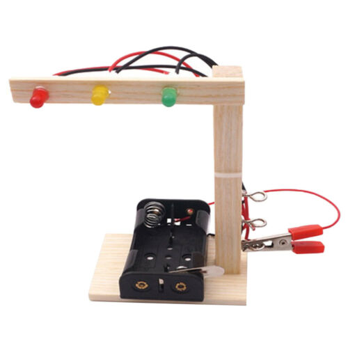 For Kids Hands On Mini Traffic Signal Lights Physics Experiment Assembly