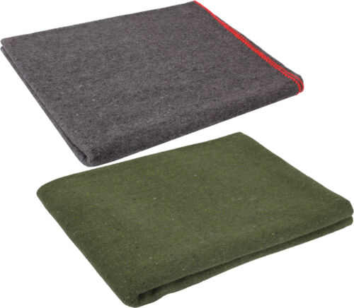 Wool Emergency Survival Blanket Rescue Large Cover Throw Bed Camping