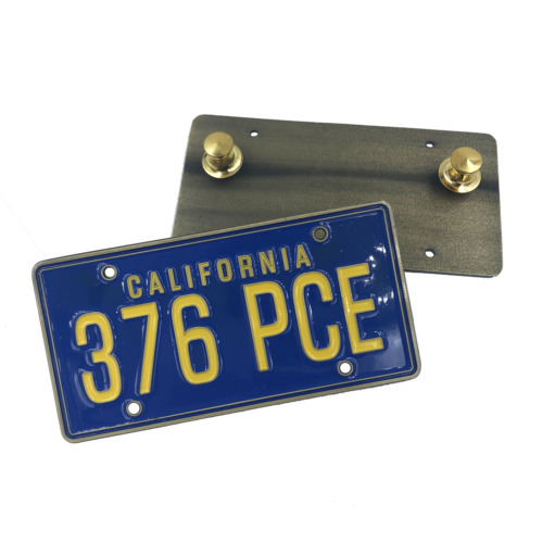 GG-018 The Big Lebowski License Plate Pin The Dude
